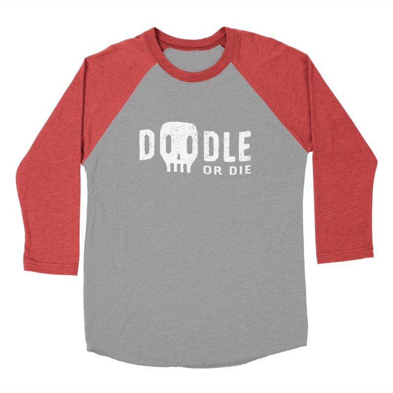Doodle or Die Women's Baseball Triblend Longsleeve T-Shirt by lunchboxbrain's Artist Shop