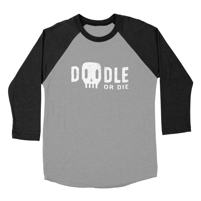 Doodle or Die Men's Baseball Triblend Longsleeve T-Shirt by lunchboxbrain's Artist Shop