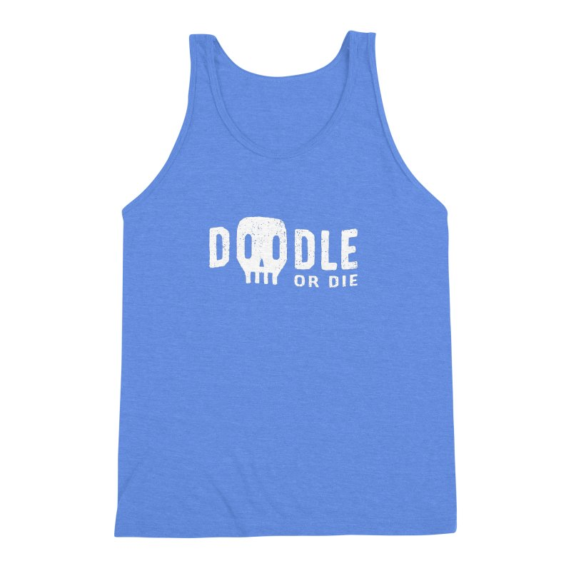 Doodle or Die Men's Triblend Tank by lunchboxbrain's Artist Shop