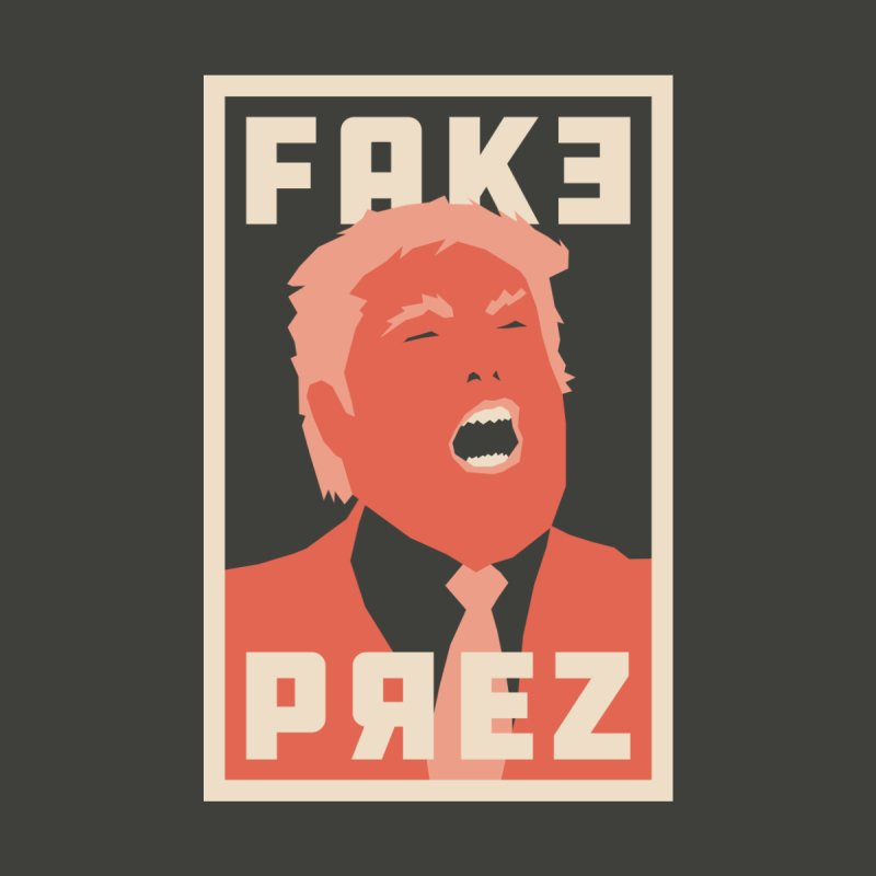 Fake Prez Men's Zip-Up Hoody by lunchboxbrain's Artist Shop