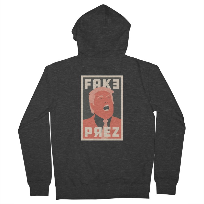 Fake Prez Women's Zip-Up Hoody by lunchboxbrain's Artist Shop