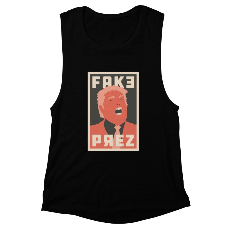 Fake Prez Women's Muscle Tank by lunchboxbrain's Artist Shop