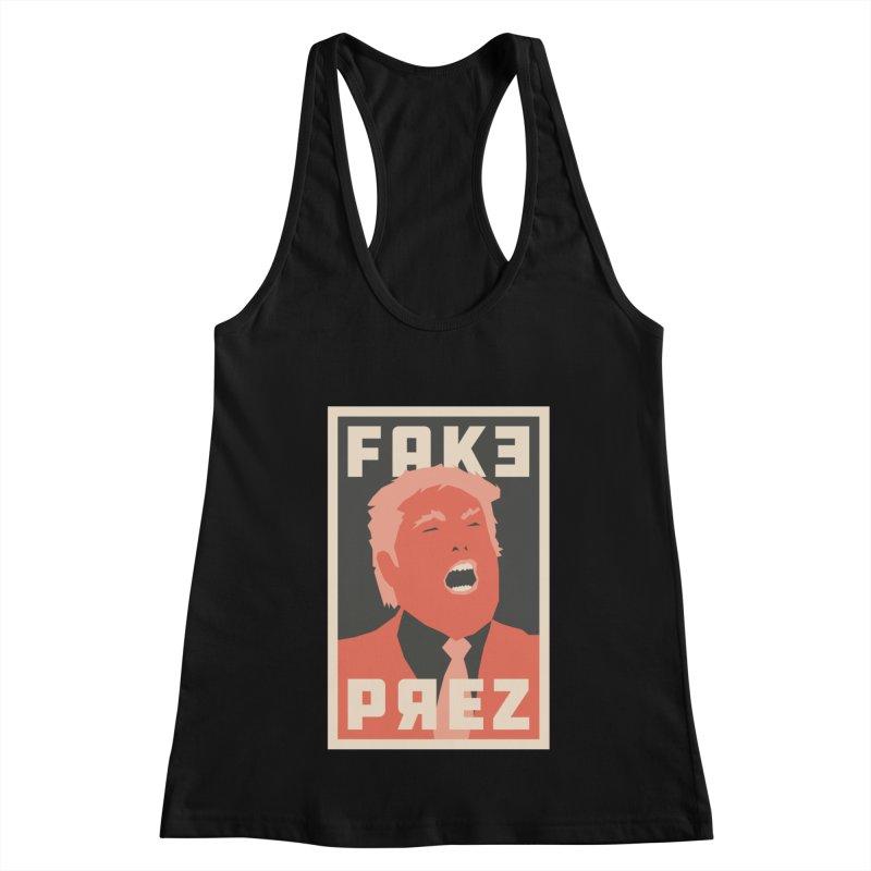 Fake Prez Women's Tank by lunchboxbrain's Artist Shop