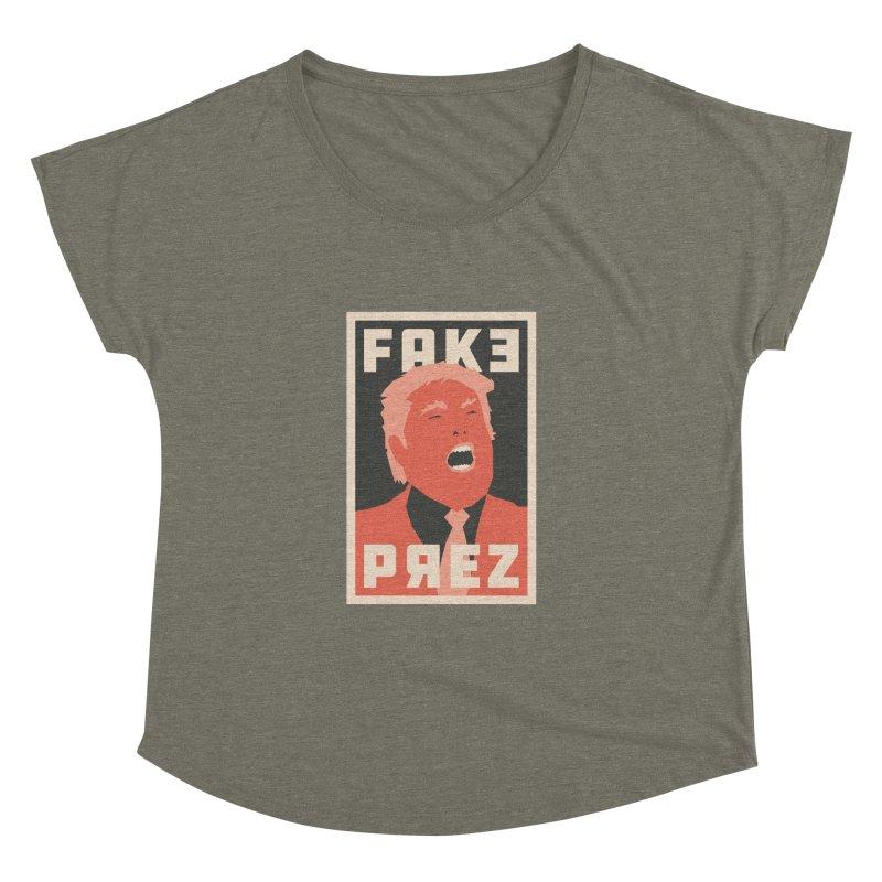 Fake Prez Women's Dolman by lunchboxbrain's Artist Shop