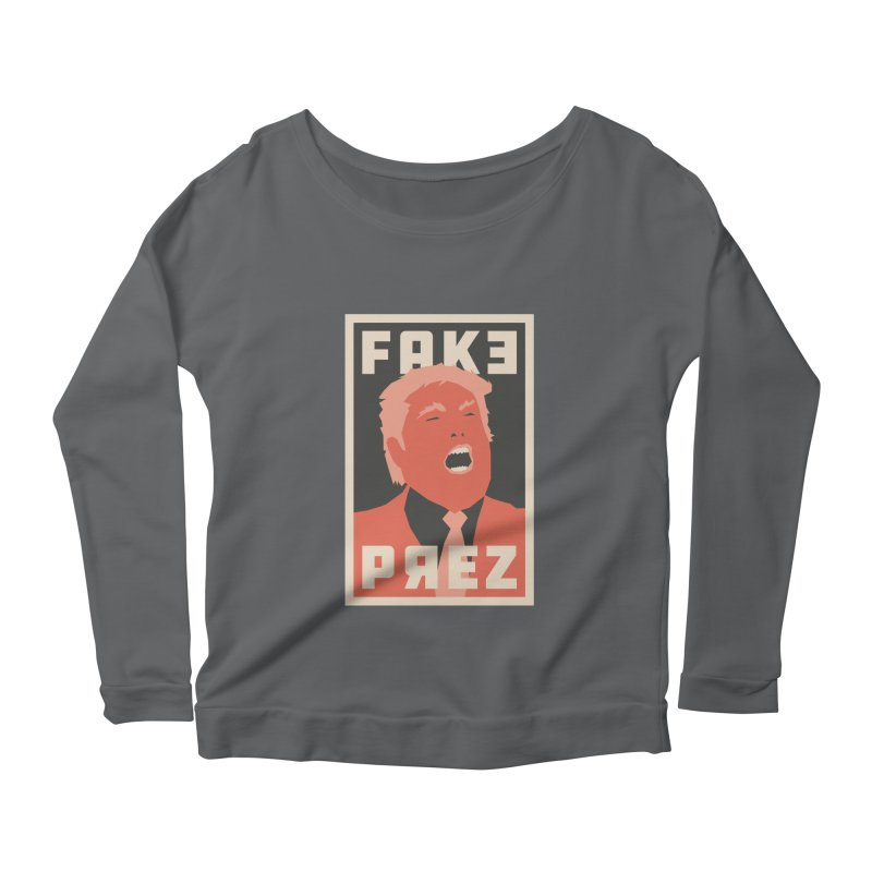Fake Prez Women's Longsleeve T-Shirt by lunchboxbrain's Artist Shop