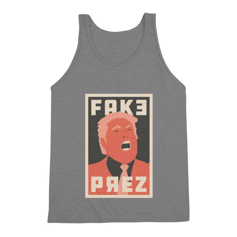 Fake Prez Men's Triblend Tank by lunchboxbrain's Artist Shop