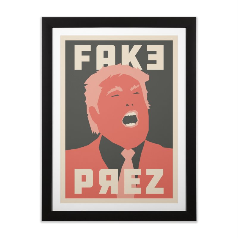 Fake Prez Home Framed Fine Art Print by lunchboxbrain's Artist Shop