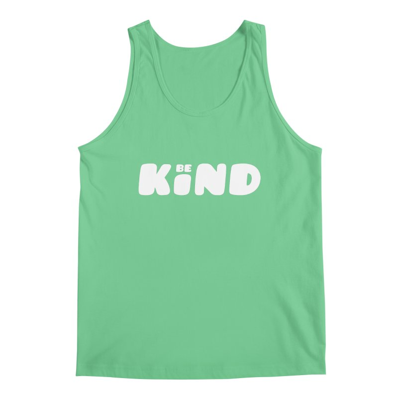 Be Kind Men's Regular Tank by lunchboxbrain's Artist Shop
