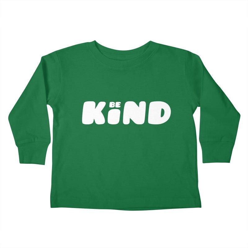 Be Kind Kids Toddler Longsleeve T-Shirt by lunchboxbrain's Artist Shop