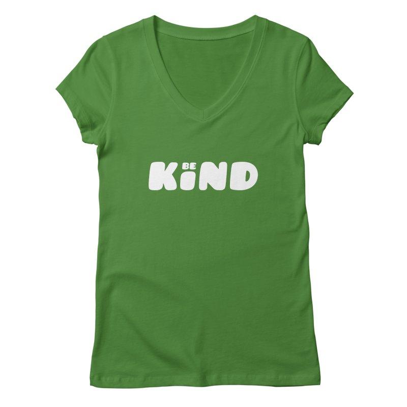 Be Kind Women's Regular V-Neck by lunchboxbrain's Artist Shop