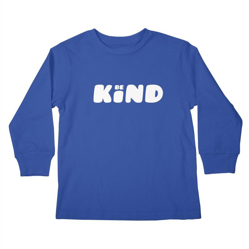 Be Kind Kids Longsleeve T-Shirt by lunchboxbrain's Artist Shop