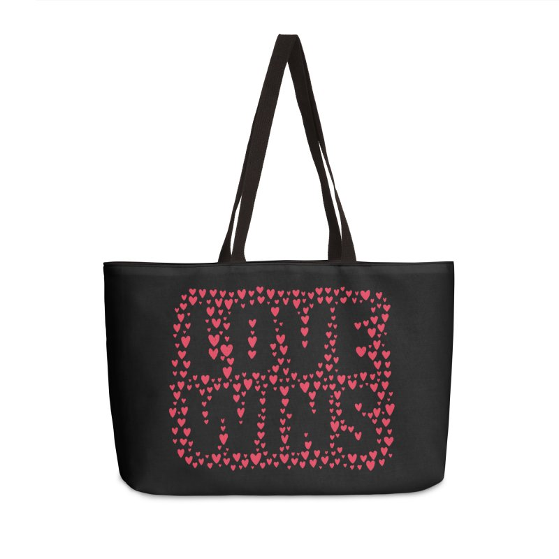 Love Wins Accessories Weekender Bag Bag by lunchboxbrain's Artist Shop