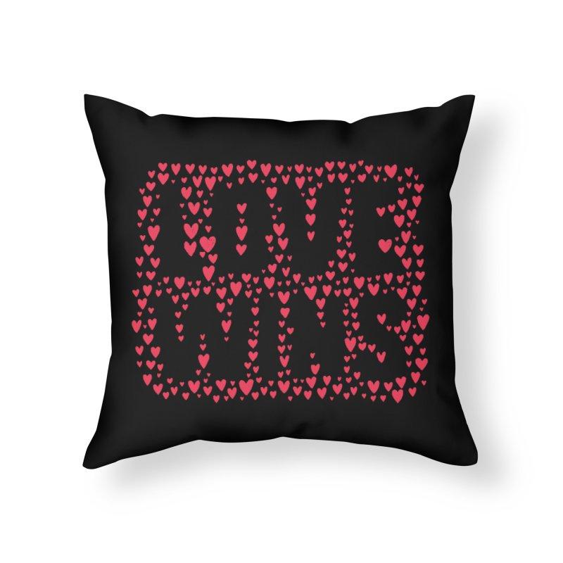 Love Wins Home Throw Pillow by lunchboxbrain's Artist Shop