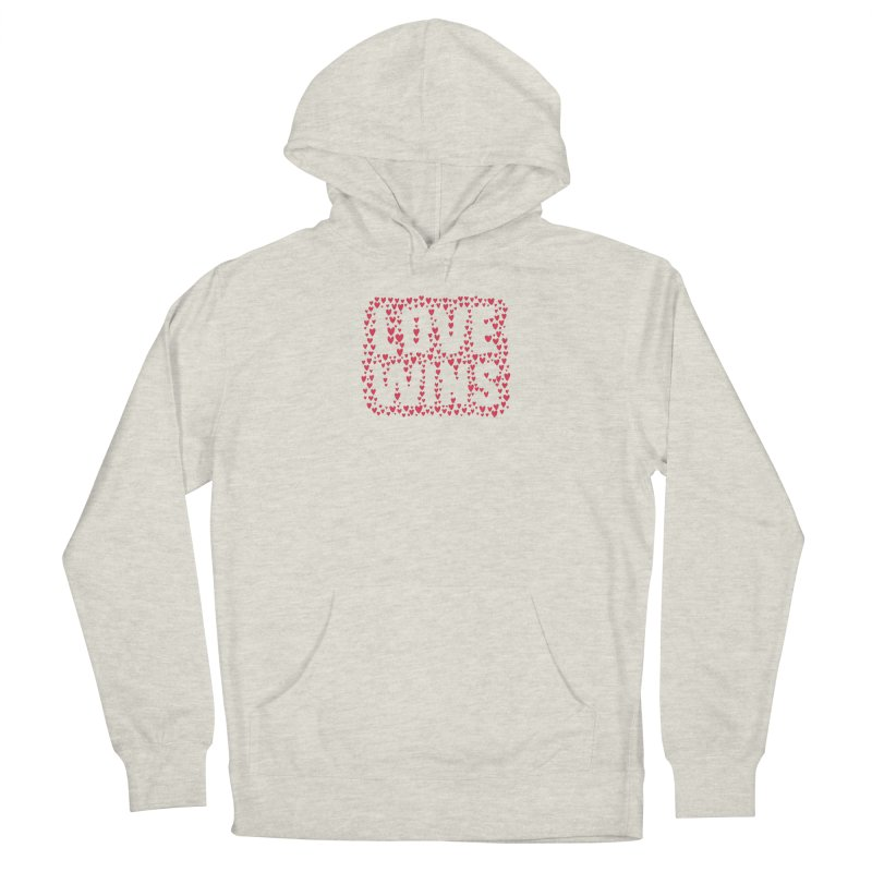 Love Wins Men's French Terry Pullover Hoody by lunchboxbrain's Artist Shop