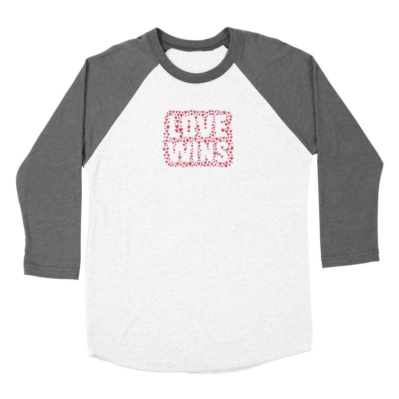 Love Wins Men's Baseball Triblend Longsleeve T-Shirt by lunchboxbrain's Artist Shop