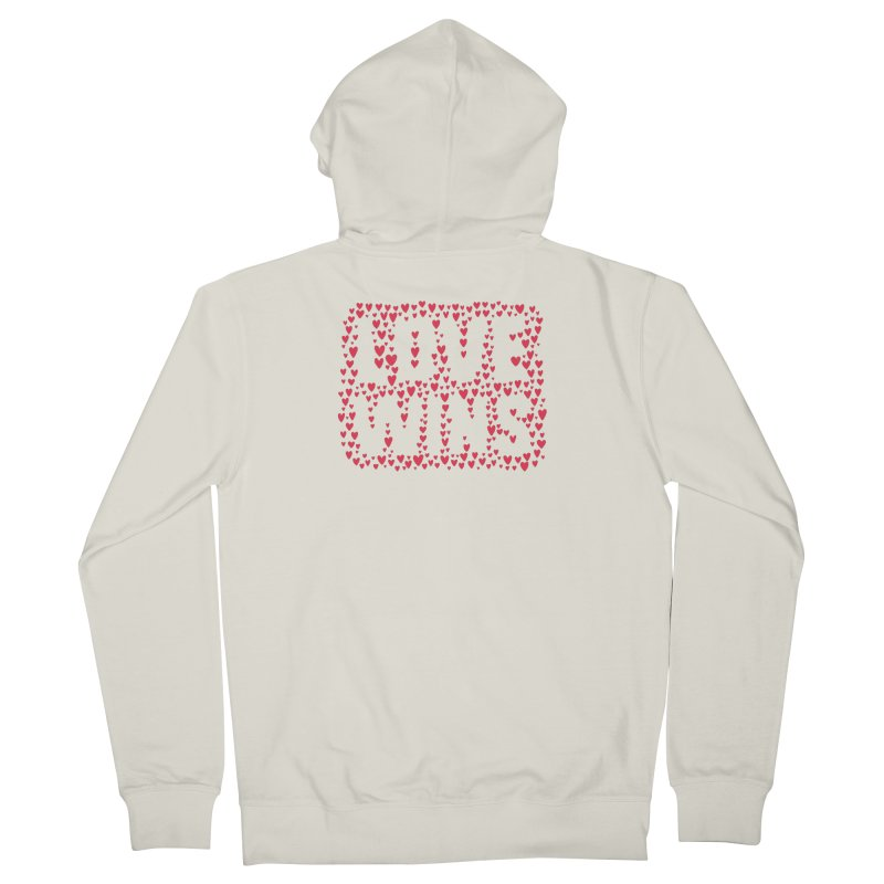 Love Wins Men's French Terry Zip-Up Hoody by lunchboxbrain's Artist Shop