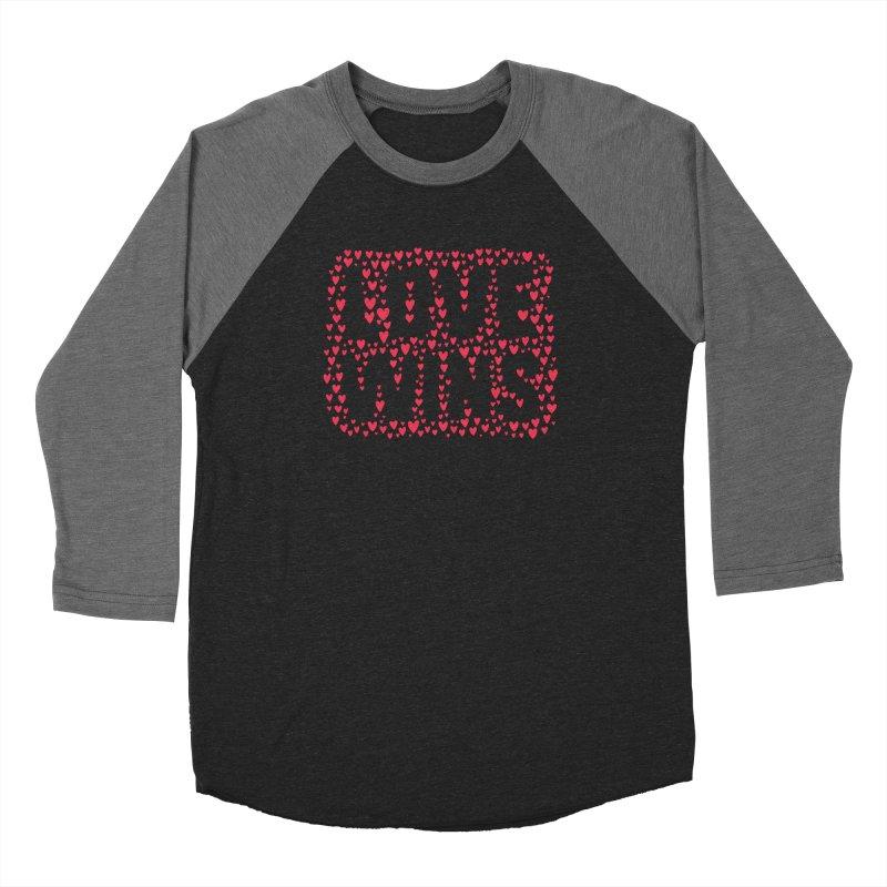 Love Wins Women's Baseball Triblend Longsleeve T-Shirt by lunchboxbrain's Artist Shop
