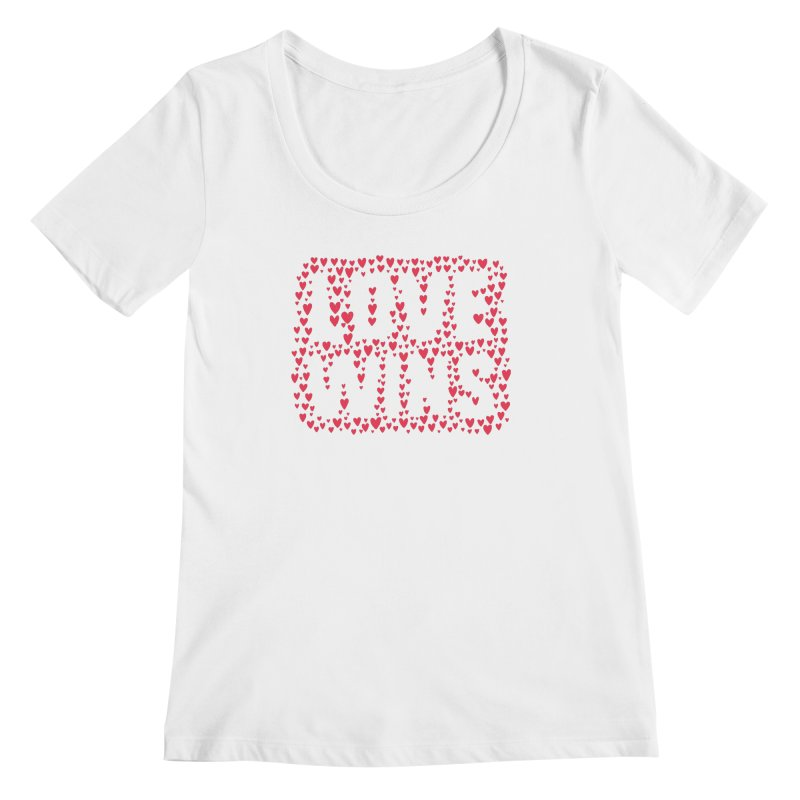 Love Wins Women's Regular Scoop Neck by lunchboxbrain's Artist Shop