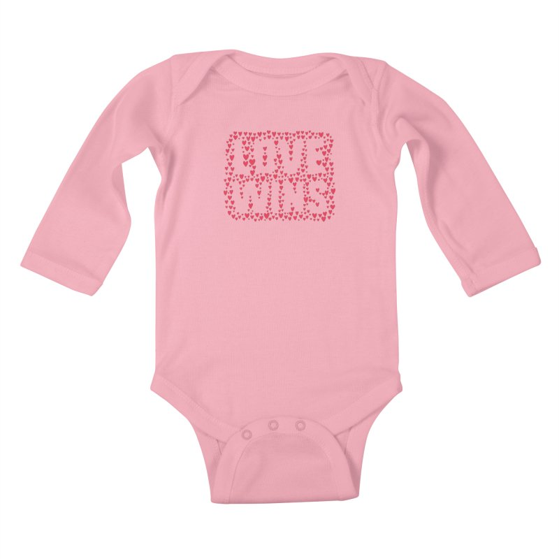 Love Wins Kids Baby Longsleeve Bodysuit by lunchboxbrain's Artist Shop