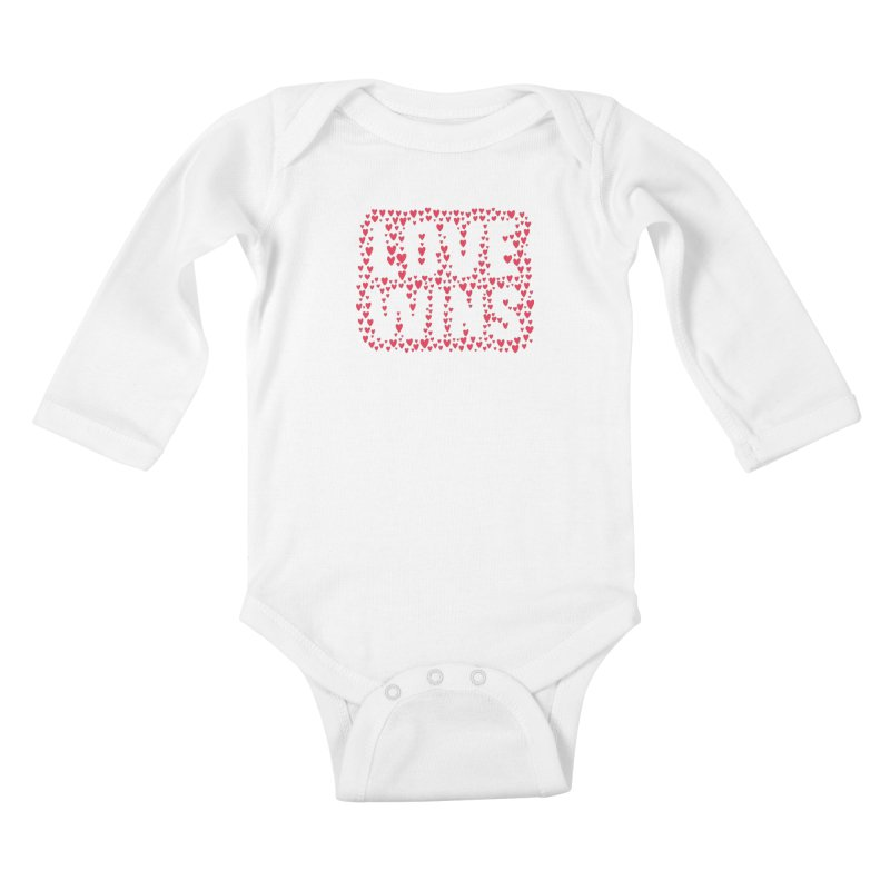 Love Wins Kids Baby Longsleeve Bodysuit by lunchboxbrain's Artist Shop