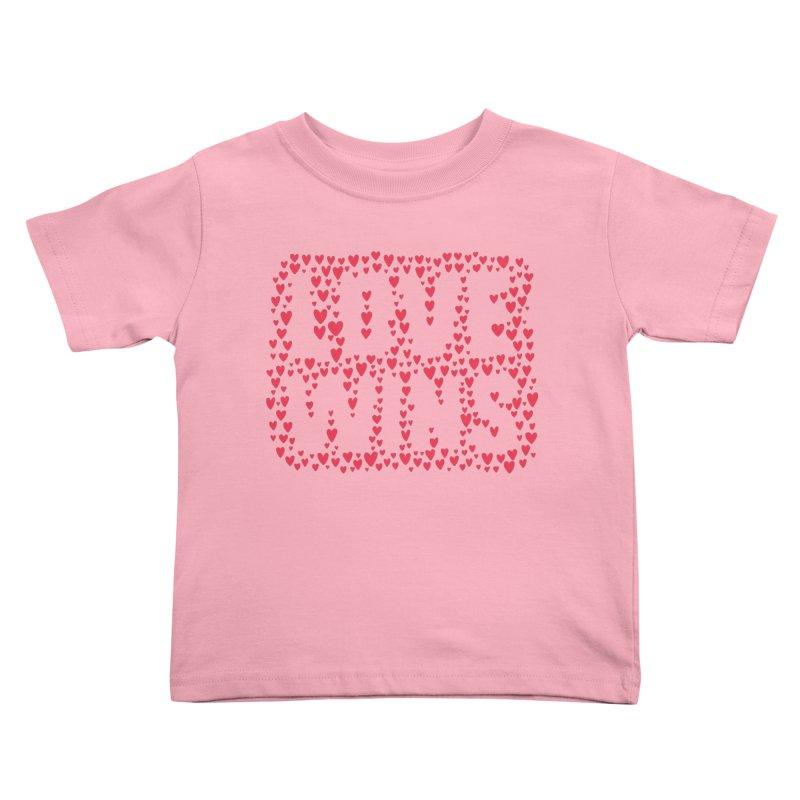 Love Wins Kids Toddler T-Shirt by lunchboxbrain's Artist Shop