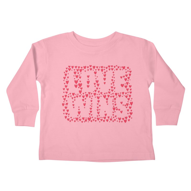 Love Wins Kids Toddler Longsleeve T-Shirt by lunchboxbrain's Artist Shop