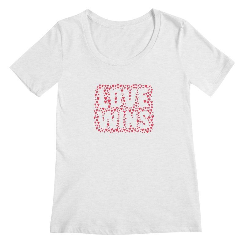 Love Wins Women's Regular Scoop Neck by lunchboxbrain's Artist Shop