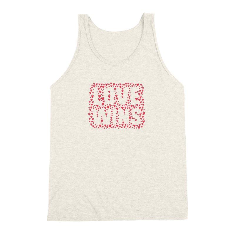 Love Wins Men's Triblend Tank by lunchboxbrain's Artist Shop