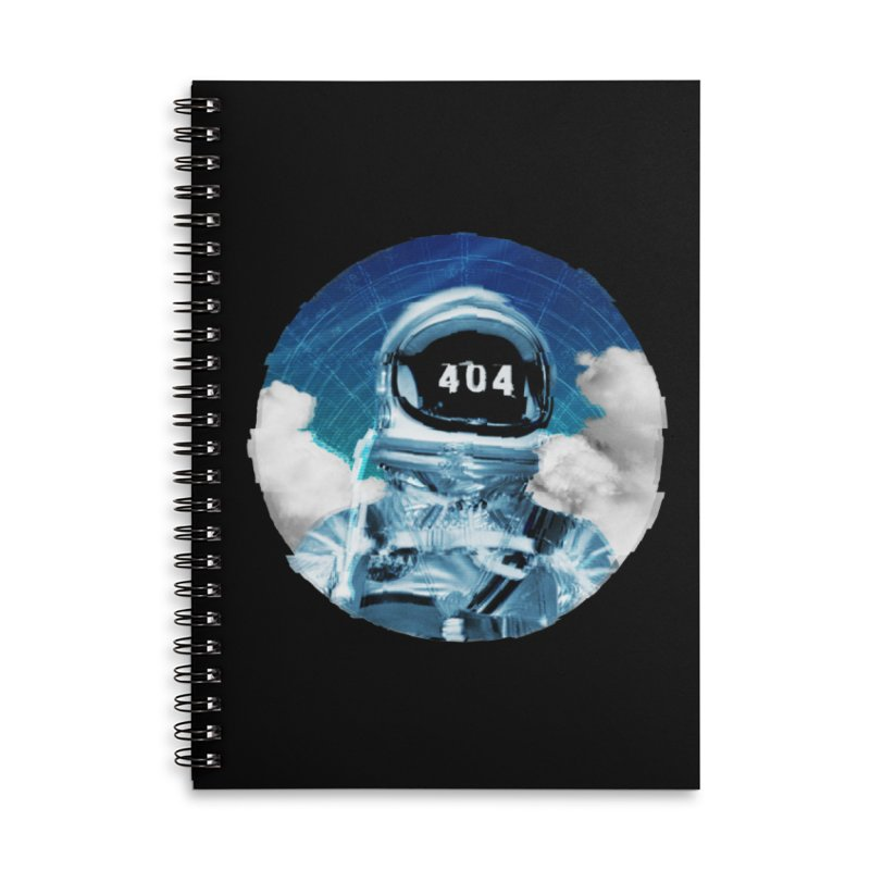 Not Found Accessories Lined Spiral Notebook by lunchboxbrain's Artist Shop