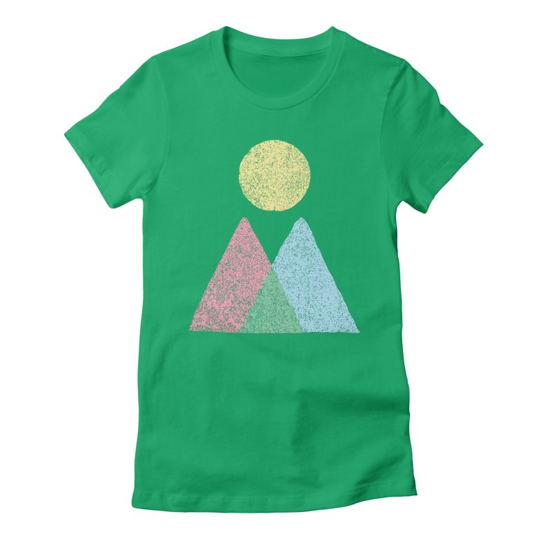 Great Outdoors Women's Fitted T-Shirt by lunchboxbrain's Artist Shop