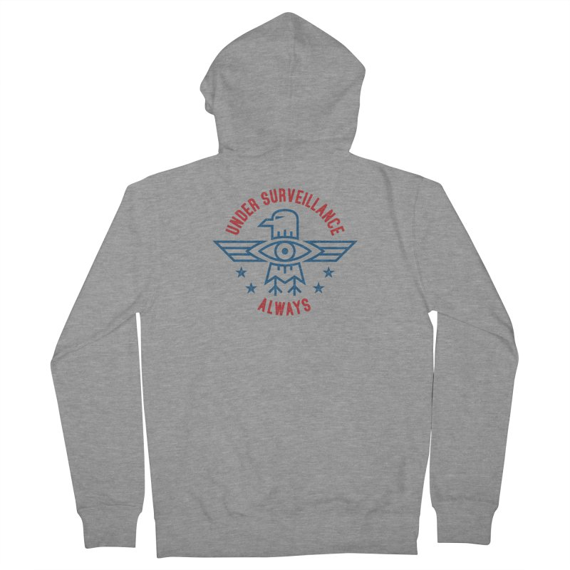 USA Men's Zip-Up Hoody by lunchboxbrain's Artist Shop