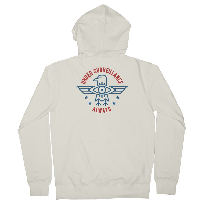 USA Men's French Terry Zip-Up Hoody by lunchboxbrain's Artist Shop