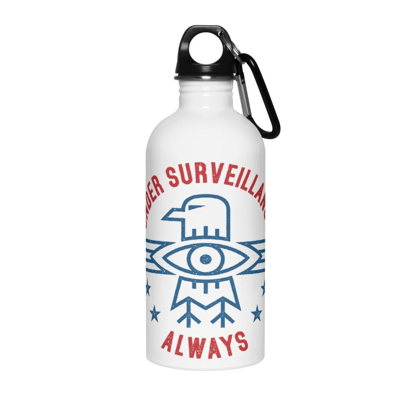 USA Accessories Water Bottle by lunchboxbrain's Artist Shop