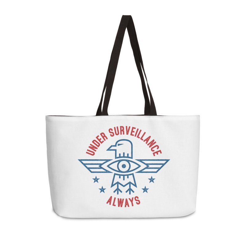 USA Accessories Weekender Bag Bag by lunchboxbrain's Artist Shop