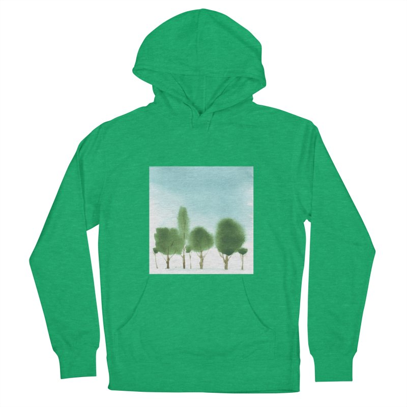 Forest 70p Women's French Terry Pullover Hoody by Luskay Art Shop