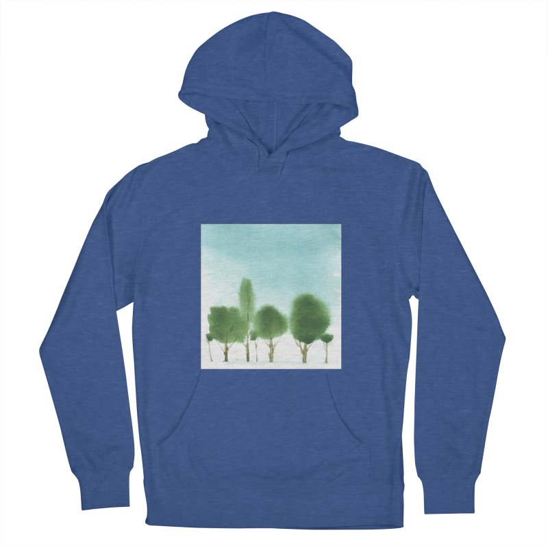 Forest 70p Men's French Terry Pullover Hoody by Luskay Art Shop