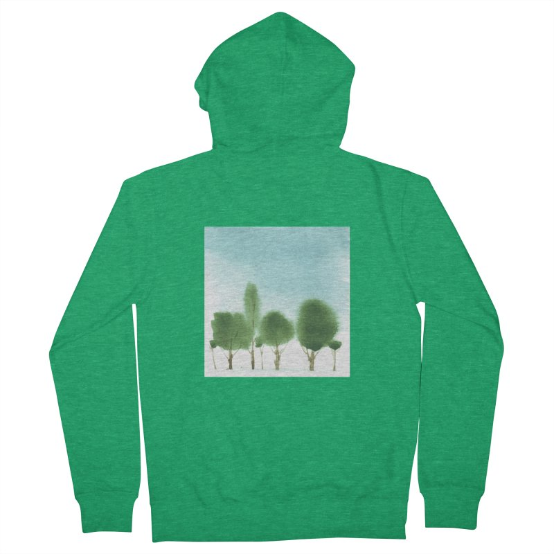 Forest 70p Women's Zip-Up Hoody by Luskay Art Shop