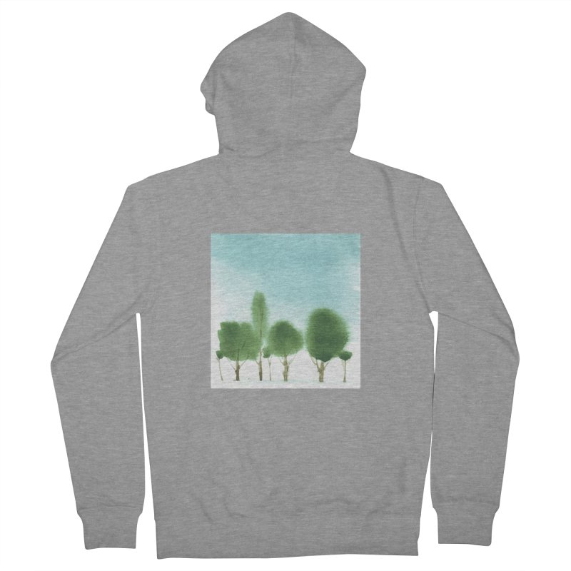 Forest 70p Men's French Terry Zip-Up Hoody by Luskay Art Shop