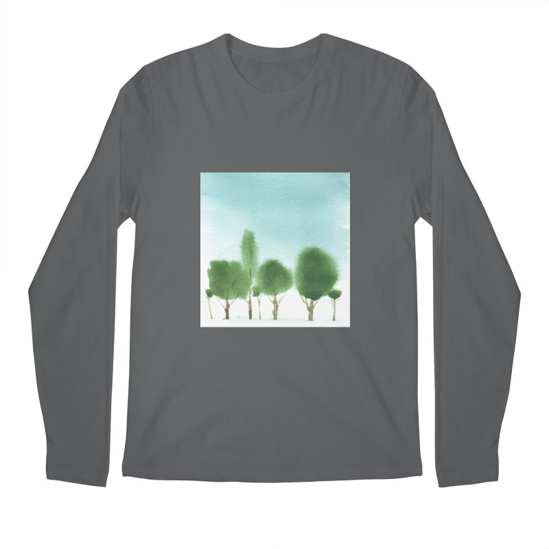 Forest 70p Men's Longsleeve T-Shirt by Luskay Art Shop