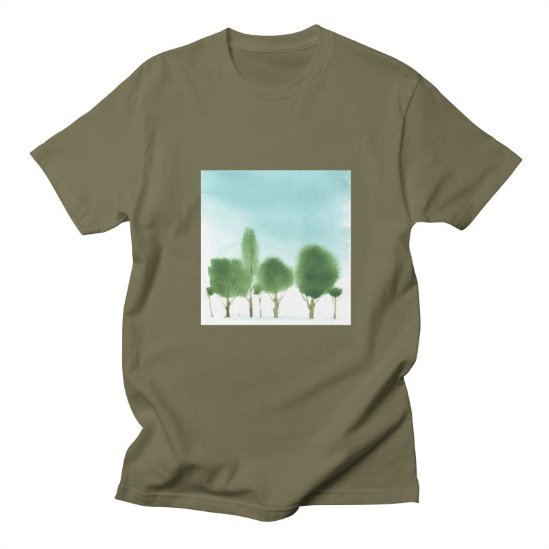 Forest 70p Men's T-shirt by Luskay Art Shop