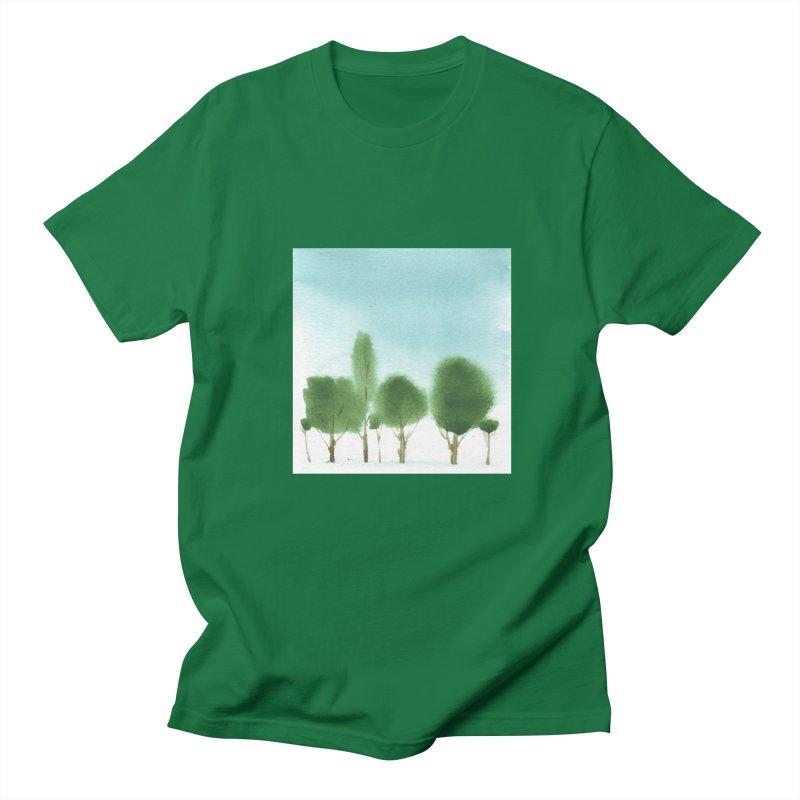 Forest 70p Men's Regular T-Shirt by Luskay Art Shop