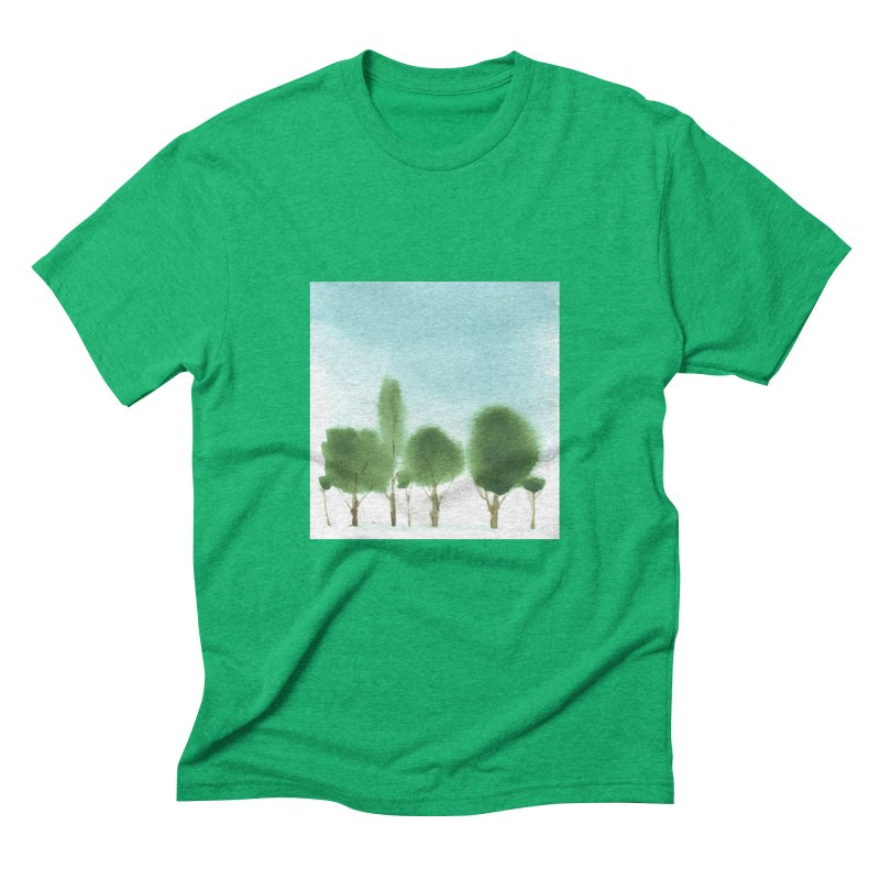 Forest 70p Men's Triblend T-Shirt by Luskay Art Shop