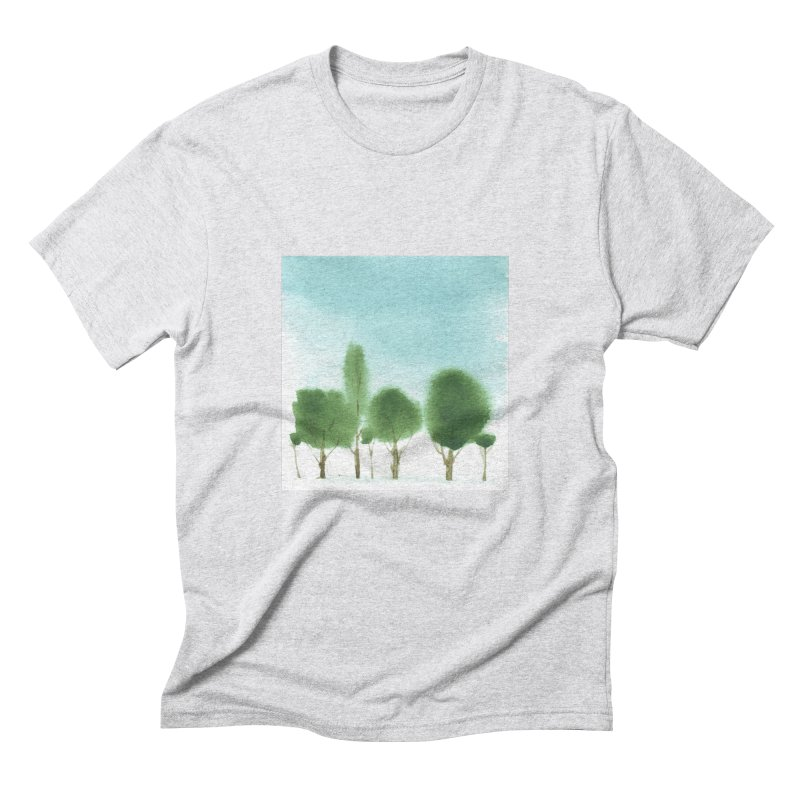 Forest 70p Men's Triblend T-shirt by Luskay Art Shop