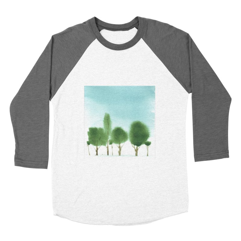 Forest 70p Women's Baseball Triblend T-Shirt by Luskay Art Shop