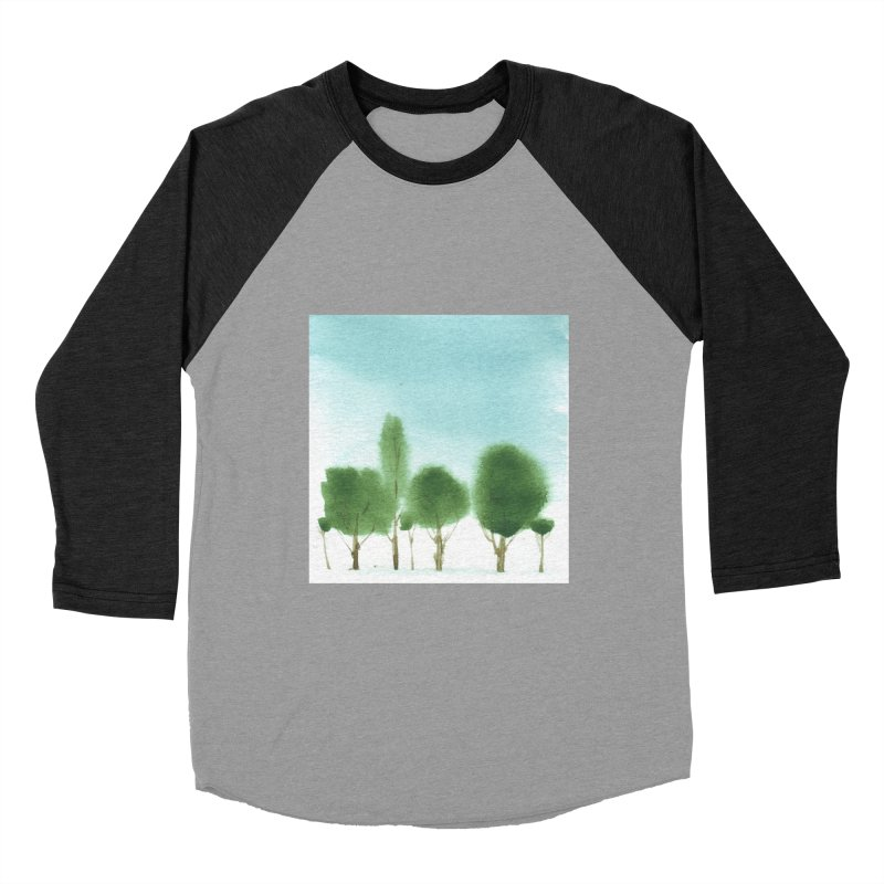 Forest 70p Men's Baseball Triblend Longsleeve T-Shirt by Luskay Art Shop