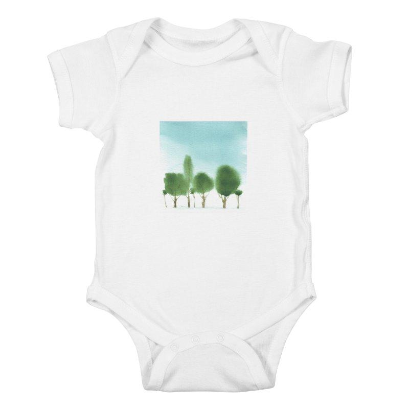 Forest 70p Kids Baby Bodysuit by Luskay Art Shop
