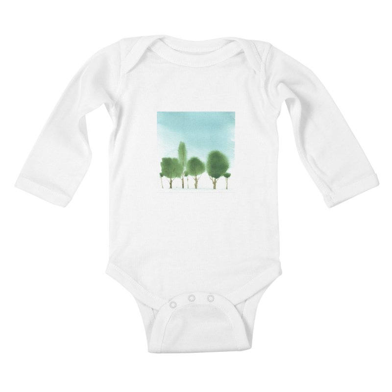 Forest 70p Kids Baby Longsleeve Bodysuit by Luskay Art Shop