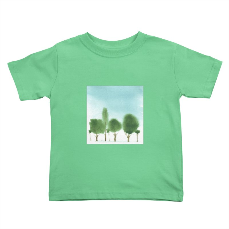 Forest 70p Kids Toddler T-Shirt by Luskay Art Shop