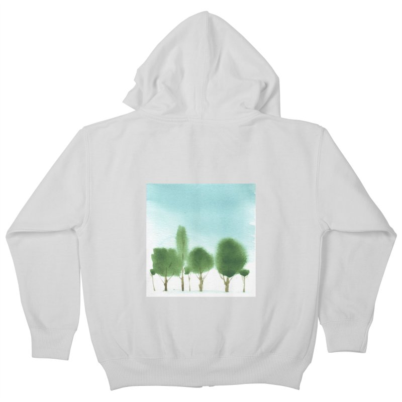 Forest 70p Kids Zip-Up Hoody by Luskay Art Shop
