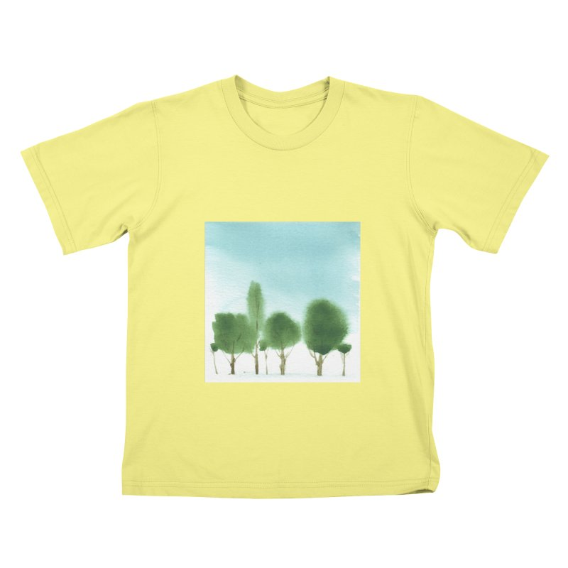 Forest 70p Kids T-shirt by Luskay Art Shop